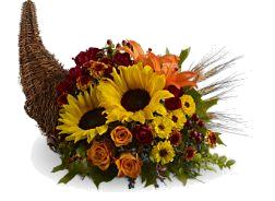Heavenly Cornucopia Cornucopia vine basket in Granville, NY | The Florist at Mandy's Spring