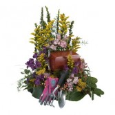 Heavenly Gardener - As Shown (Deluxe) Urn Arrangement