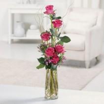Heavenly Half Dozen Fresh Vased Arrangement