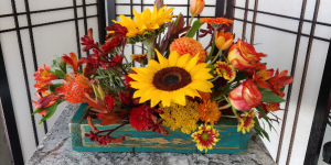 Heavenly Harvest  Fall Arrangement in Levelland, TX | SUGARBEE'S GIFT & FLORAL