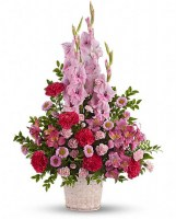 Heavenly Heights Bouquet Funeral Basket