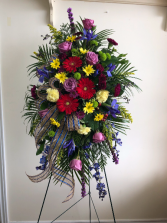 Heavenly hope Standing spray arrangement