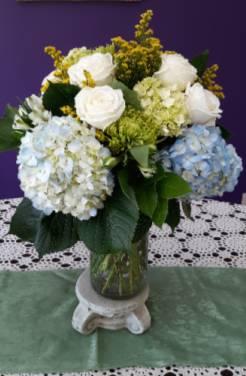 Heavenly Hydrangeas vase arrangement