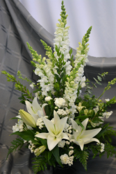 HEAVENLY PEACE IN WHITE DESIGN SYMPATHY ARRANGEMENT