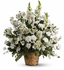 Heavenly Light basket arrangement