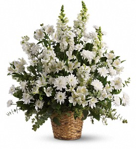 Heavenly Light basket arrangement