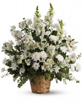 Heavenly Light Bouquet Funeral Basket