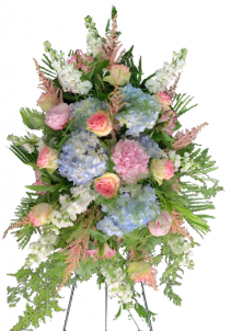 Heavenly PInk and Blue Standing Spray