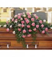 Heavenly Pink Casket Spray Arrangement