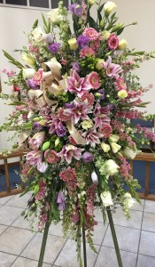 Heavenly Pinks and Purples Standing Spray