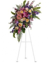 HEAVENLY STANDING SPRAY STANDING FUNERAL PC ON A 6' STAND