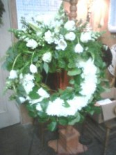 Heavenly White Wreath Standing Wreath