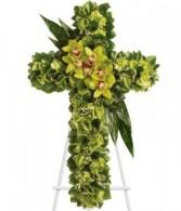 Heaven's Cross Funeral Flowers