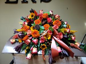 Heaven's Harvest  Casket Spray in Port Huron, MI | CHRISTOPHER'S FLOWERS