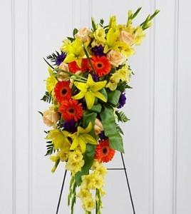 Heaven's Light Easle Spray Funeral Service Flowers