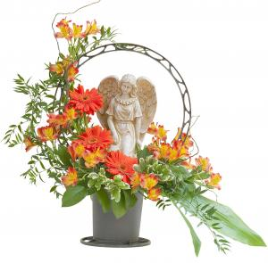 Heaven's Sunset Angel Basket Arrangement in Fort Smith, AR | EXPRESSIONS FLOWERS, LLC