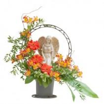 Heaven's Sunset Angel Basket  Arrangement