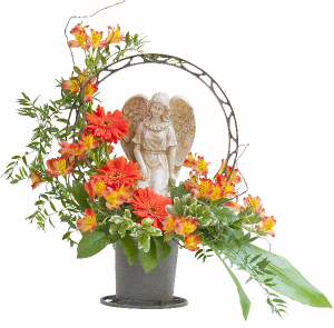 Heaven's Sunset Angel Basket Basket in Swannanoa, NC | The Asheville Florist