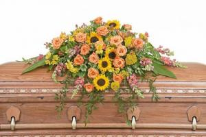 Heaven's Sunset Casket Spray in Macon, GA | PETALS, FLOWERS & MORE