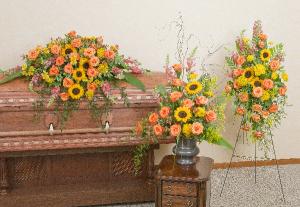 Heaven's Sunset Trio  in Saint Louis, MO | Irene's Floral Design