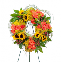 Heaven's Sunset Wreath Standing Spray