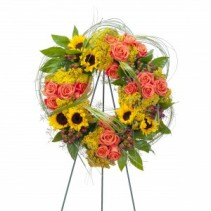 Heaven's Sunset Wreath Standing Wreath