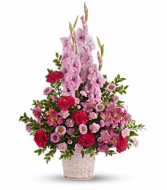 Heights of Pink Basket Arrangement