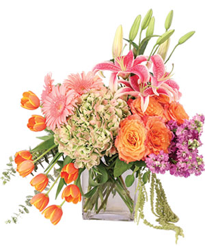 Heirloom Blossoms Flower Arrangement in Ozone Park, NY | Heavenly Florist