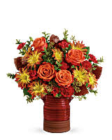 Heirloom Crock Bouquet Fall Arrangement