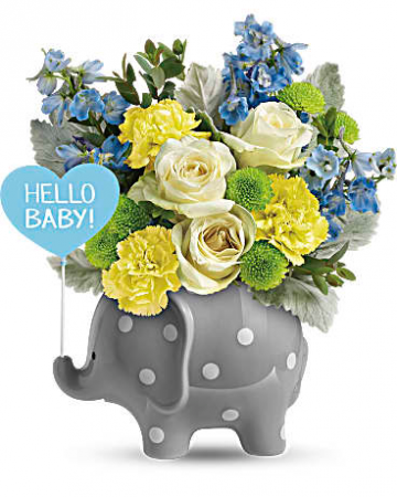 Hello Baby Boy! Fresh arrangement