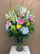 For My Beautiful Love!   Tall Gathering of Large Garden Blooms