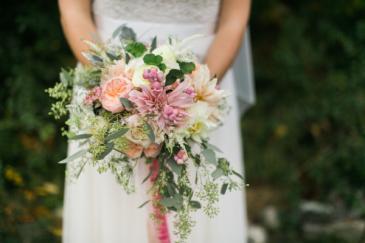 Hello Beautiful Wedding Bouquet, Hand tied