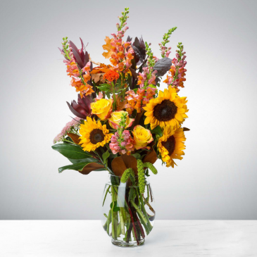 Hello Fall Vase arrangement