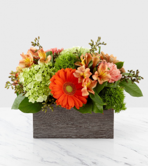 Hello Gorgeous!! Wooden planter with liner in Claremont, NH | FLORAL DESIGNS BY LINDA PERRON