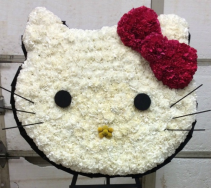 "HELLO KITTY 27"" HELLO KITTY ON A 5'-6"" STAND"