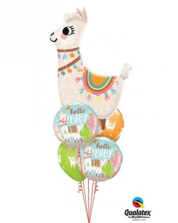Hello Llama Balloon Bouquet