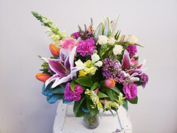 Hello Spring Flower Arrangment