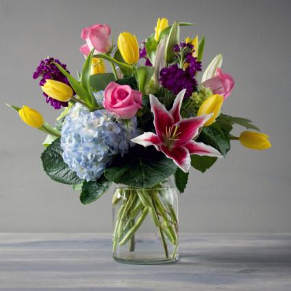 Hello Spring Vase Arrangement In Longview Tx Anns Petals