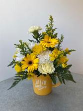 Hello Sunshine Yellow Mug
