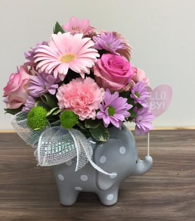 Hello sweet baby Baby arrangement