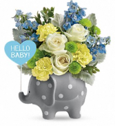 Hello Sweet Baby - Blue floral arrangement
