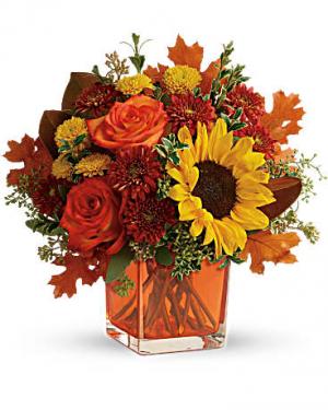 Hello to Autumn Vase in Los Angeles, CA   California Floral Company