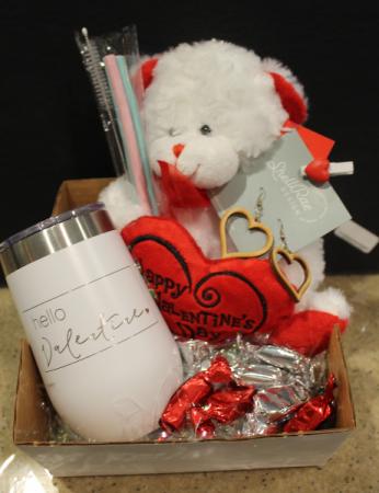 Hello Valentine Gift Basket