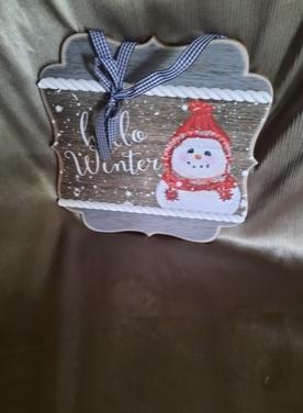 Hello Winter Sign