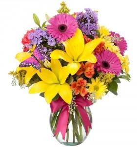 HELLO YELLOW Vase Arrangement