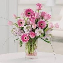 Her First Flowers Fresh Vased Arrangement