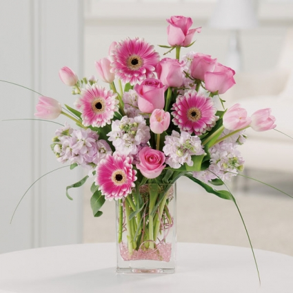 Pink Magic Soft pink flowers Vase Arrangement & Pink Magic Soft pink flowers Vase Arrangement in Bend OR - AUTRY\u0027S ...