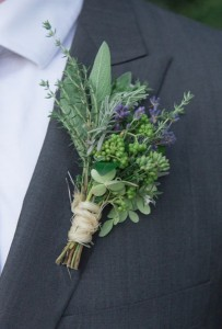 Herbs and Berries Boutonniere