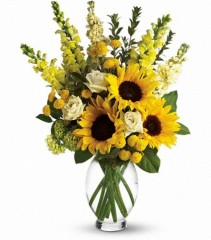 Here Comes the Sun Flower Arrangement (T152-1A)