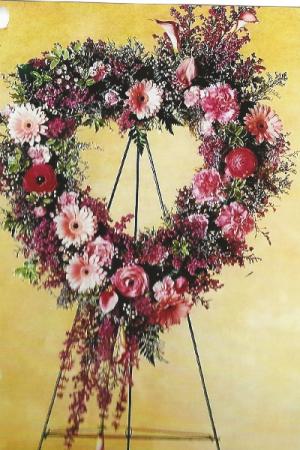 Here's my heart fresh wreath